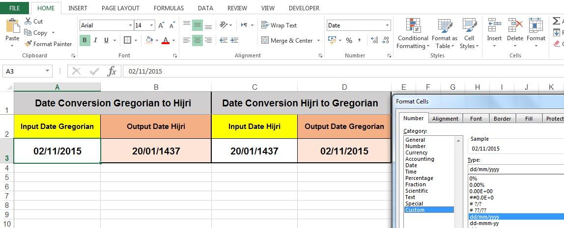 Date Conversion Format